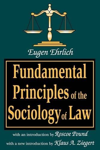 Fundamental Principles of the Sociology of Law (Law and Society Series,) by Eugen Ehrlich (2001-10-03)