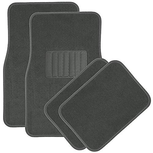 OxGord 4Full-Set Teppich Bodenmatten, universelle Passform Matte für Auto, SUV, Van LKW-vorne, hinten, Treiber, Beifahrersitz grau (Gummi-bodenmatte Lkw)