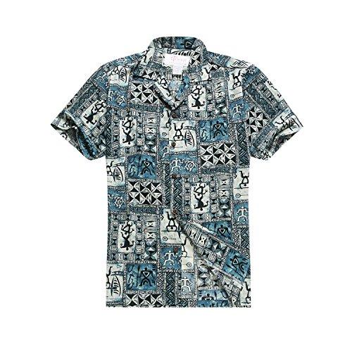 Hawaii-Hangover-camisa-hawaiana-camisa-de-X-Large-azules-de-los-hombres