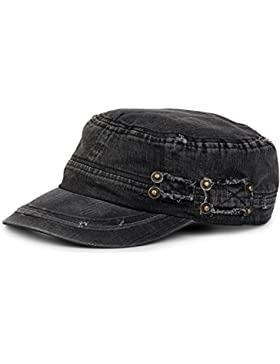 styleBREAKER gorra militar en apariencia gastada, vintage, ajustable, unisex 04023011