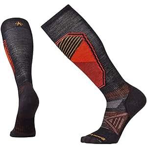Smartwool Men's Phd Light Pattern Ski Socks, Black, Medium