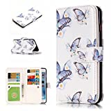 iPhone 6 Case , iPhone 6s Case , MS Jumpper Premium [Card Slot] Magnetic Hybrid Wallet Case Flip Cover For Appple iPhone 6 and iPhone 6s 4.7 inch (full butterfly)