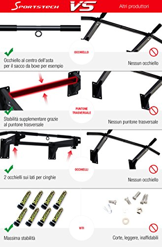 Zoom IMG-3 sportstech barra trazioni 4in1 ks300
