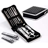 11-in-1 Manicure & Pedicure Kit For Men & Women – Stainless Steel Nail Grooming Kit – Hands, Feet & Facial Care...
