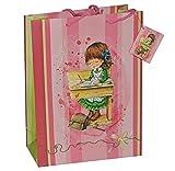 Unbekannt Geschenkbeutel / Geschenktasche Mädchen groß - Schulanfang Schuleinführung Tüte Beutel Geschenktüte Tasche