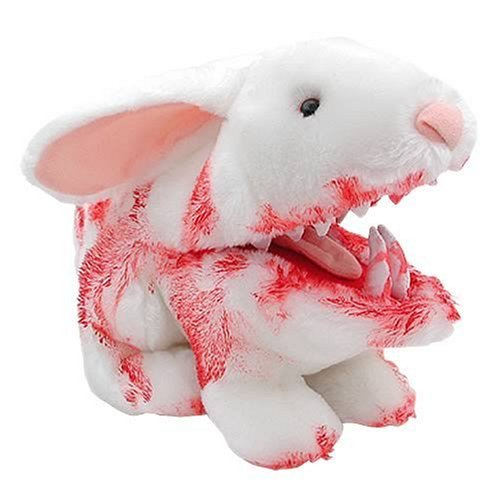 Monthy's Pyhton Bloody Rabbit with Big Pointy Teeth Plush, by Toy Vault. Peluche
