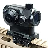 Tactical Holografische rot & grün Dot Sight w/Dual Hohe Schiene Mounts Scope Quick
