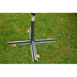SONNENSCHIRMSTÄNDER - BODEN BEFESTIGUNG - ALU-FIX mit 2 Erdschrauber Wurmi® ALUMINIUM HERINGE 30 cm Lang - Set besteht aus 2 x Hakenstiftplatte + 2 x ALUMINIUM - Schraubheringen - STABIELO - Wurmi-Produkte ®MADE in GERMANY - LANGZEIT-TEST bestanden - INNOVATIONEN MADE in GERMANY - Holly ® Produkte STABIELO ® - holly-sunshade ®