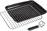 Invero® Universal Oven Cooker Grill Pan Tray Complete with Steel Wire Rack and Detachable Handle Suitable for Most Oven Cookers - 387mm x 300mm
