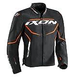 IXON Blouson Moto Sprinter, Noir/Orange, Taille L