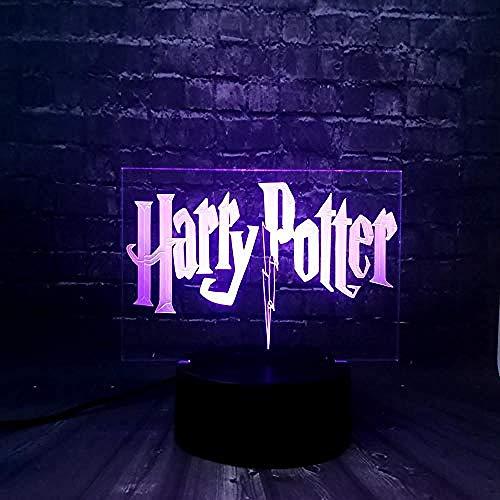 Ilusiones 3D Luz noche LED 3D niños Harry Potter