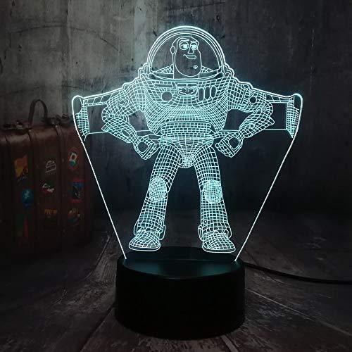 Neue Toy Story Bass 3D LED Nachtlicht Tischlampe RGB 7 Farbe Junge Kind Junge Spielzeug Dekoration Baby Weihnachten Geburtstagsgeschenk -