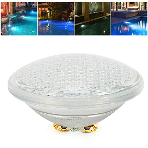 SHIOUCY LED Poolbeleuchtung Warmweiß/Weiß/RGB 12V Multicolor PVC Unterwasserscheinwerfer PAR56 Pool Dickes Glas Unterwasser Licht (35W)