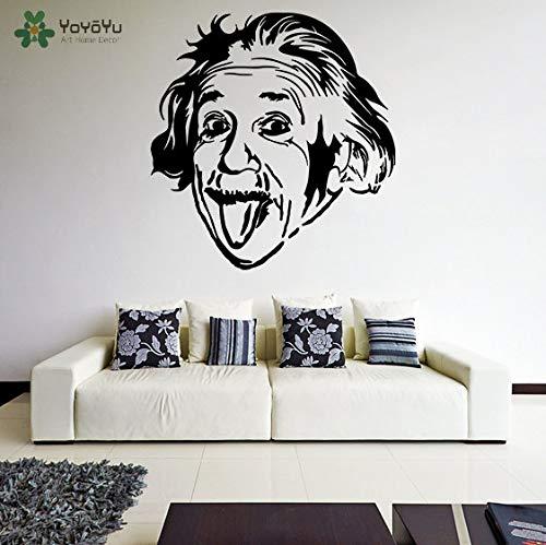 Wandtattoo Vinyl Aufkleber Albert Einstein Seine Zunge Herausstrecken Verrückt Lustiges Gesicht Kunst Dekoration Wandbild DIY Poster Weiß 57 * 60 cm