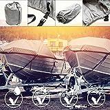 Wiltec Copertura per Barca Impermeabile telone Telo Copribarca Grigio 668x295cm 20-22