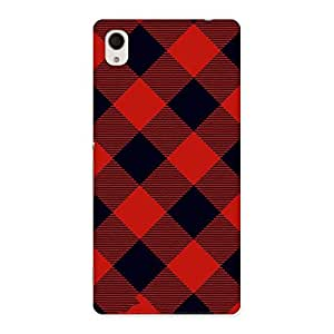 Neo World Diagonal Check Back Case Cover for Sony Xperia M4