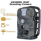 KKmoon Weitwinkel HD Wildkamera 12MP 1080P 120 ° 850nm IR IP54 2.4 Zoll Hunting Kamera LED Schirm Jagd Kamera mit 8 GB SD Karte