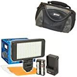Nikon Coolpix P900 Digital Camera Lighting Vidpro Ultra-Slim LED-150 Video And Photo LED Light Kit-With SDC-26 Case