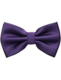 PenSee Mens Pre-tied Bowtie Adjustable Formal Tuxedo Solid Bow Tie-Various Colors