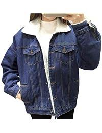 timeless design 4d69c 4b9d8 Amazon.it: giacca jeans con pelliccia - Giacche e cappotti ...