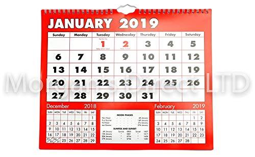 Calendario Da Parete Grande.2019 Calendario Da Parete Planner Grande Boldtype Finiture Di Alta Qualita