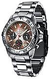FIREFOX DESTROYER FFS01-106b sunray kastanie/schwarz Chronograph massiv Edelstahl Sicherheitsschließe Herrenuhr Armbanduhr 10 ATM Prüfdruck