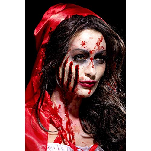 Preisvergleich Produktbild Amakando Horror Latex-Applikation Tiefe Kratzspuren / Rot / Blutige Halloween Schminke Zombie / Perfekt geeignet zu Horror-Party & Zombie-Party