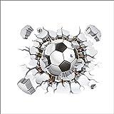 Pegatina de pared vinilo adhesivo futbol pelota balon efecto 3D decorativo para cuartos, salon,cuarto de juegos,dormitorio,cocina,sala de estar ... OPEN BUY