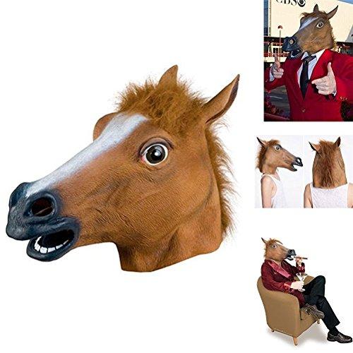 uesae Halloween Masken Erwachsene Pferd Dekoartikel für Halloween Maske latex Kostüm Party Cosplay Karneval Zubehör Make Up Thema Party 1