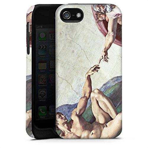 Apple iPhone X Silikon Hülle Case Schutzhülle Michelangelo Kunst Adam Tough Case matt