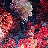 Pepelinchen Samt Velours - Blumen auf Dunkelblau