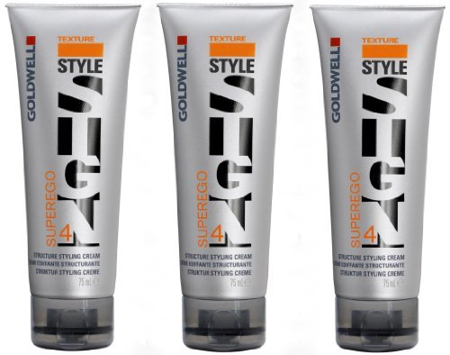 Texture Styling Creme (Goldwell Superego 3 x 75 ml Style Sign Texture GW Struktur Styling Creme)
