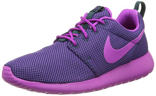 Nike Wmns Roshe One, Chaussures Femme Midnight Teal/Vvd Prpl-Drk Gry