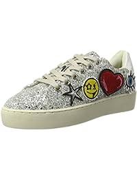 Xti Silver Glitter Combined Ladies Shoes ., chaussons d'intérieur femme