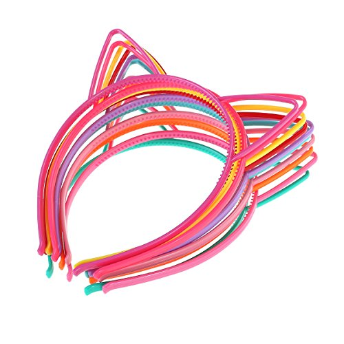 KAIMENG Gato Diadema oreja Gato Arco Cintas pelo Plástico