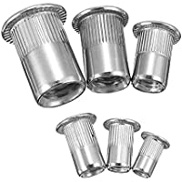 SGerste - Kit de tuercas de remache de acero inoxidable (33 piezas, M3, M4, M5, M6, M8 y M10)