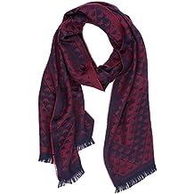 36d608f79aa Emporio Armani écharpe homme en laine rouge