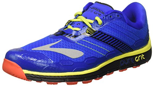 Brooks Men's Puregrit 5 Trail Running Shoes, Blue (Electric Brooks Blue/Black/Lime Punch),...