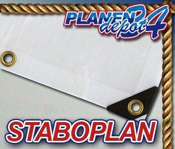 Staboplan Abdeckplane Plane Bootsplane 260 g extrem reißfest 6 x 8 m