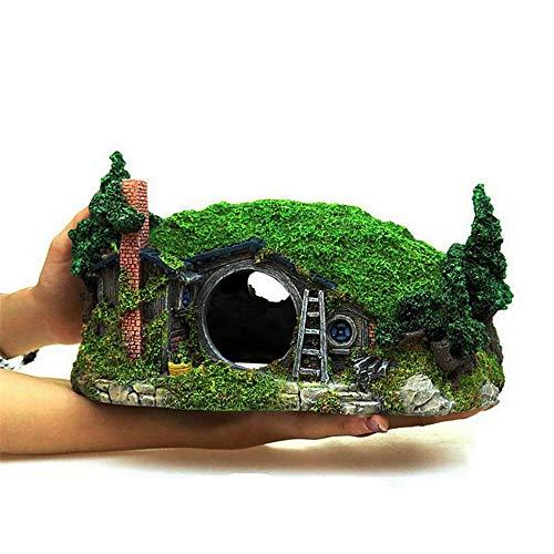 y, der Schlossdekoration, kreative Aquariumhauptdekoration des trockenen Holzhauses des Hobbithauses landschaftlich gestaltet ()