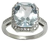 Banithani 925 Sterling Silber Schöne Charm Blau Topaz Steinring-Frauen Fashion Jewelry