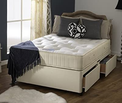 Happy Beds Divan Bed Set Ortho Royale Orthopaedic Mattress No Drawers 4'6'' Double 135 x 190 cm - low-cost UK bed shop.