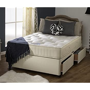 Happy Beds Divan Bed Set Ortho Royale Orthopaedic Mattress 4 Drawers 5u0027 King  Size 150