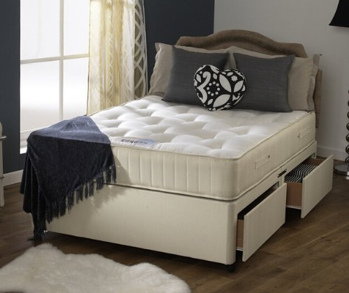 Happy Beds Divan Bed Set Ortho Royale Orthopaedic Mattress 4 Drawers 5′ King Size 150 x 200 cm