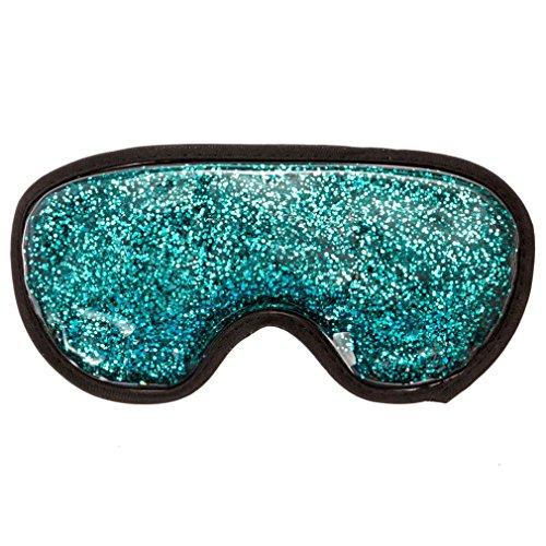 Augenkompresse, Medical Eye Maske, Hot & Cold Therapy für geschwollene Augen, Verspannungen, Sinus und Migräne Relief, verstellbarer Gurt für Damen und Herren, Plüsch Unterstützung, wiederverwendbar, Gefrierschrank und Mikrowelle Safe (Aquamarin glänzt)