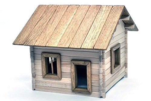 Haus 1 zum Selbstbau Holz Spielzeug Massiv selber Bauen Kinder Konstruktion Bausatz