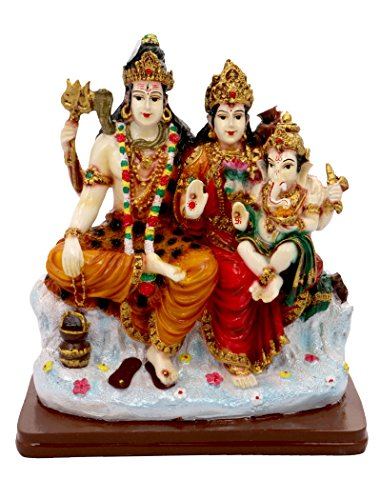 SUNNY CORPS® Shiv PARIVAR Shiv Parvati Ganesha Gift Statue Idol Showpiece Sculpture Murti LxHxW(cm) = 16x18x9