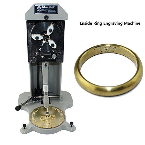 Gesichts-block (HUKOER Inside Ring Engraver Stamper mit Zwei Gesichtern Standardbrief Block, Schmuckherstellung Graviermaschine)