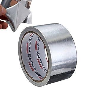 Cinta adhesiva de sellado de aluminio resistente a altas temperaturas, 5 cm x 17 m, de la marca Useful