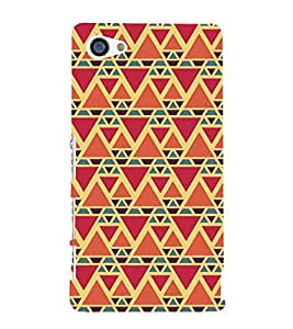 Triangular Pattern 3D Hard Polycarbonate Designer Back Case Cover for Sony Xperia Z5 Premium :: Sony Xperia Z5 Premium Dual